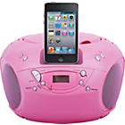 more details on Bush Portable CD Player with iPod Speaker Dock - Pink.