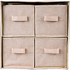 more details on 4 Drawer Fabric Storage Unit - Jute Effect.