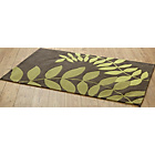 more details on Leaves Rug 180x120cm - Green.