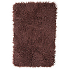 more details on Faux Flokati Rug - 100 x 75cm - Chocolate.