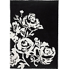 more details on Inspire Anais Flower Rug - 180x120cm - Black and White.