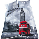 more details on Living Photographic London Bus Duvet Cover Set - Double.