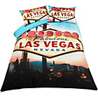 more details on Living Photographic Las Vegas Duvet Cover Set - Double.
