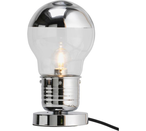 Buy home bulb touch table lamp chrome at for Table lamps argos
