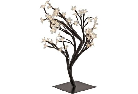 HOME Cherry Blossom 48 Light Table Lamp - Black.