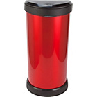 more details on Curver 40 Litre Deco Touch Top Kitchen Bin - Red and Black.