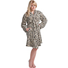 more details on Gold Rush Animal Print Adult Fleece Robe.