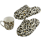 more details on Gold Rush Animal Print Mug and Slippers Gift Set.