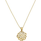 more details on 18ct Gold Plated Sterling Silver Rose Pendant.