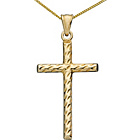 more details on 9ct Gold Plated Sterling Silver Twist Cross Necklace.