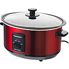 more details on Morphy Richards 48702 3.5L Aluminium Slow Cooker - Red.