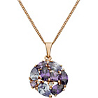 more details on 9ct Rose Gold Plated Silver Purple and White CZ Pendant.
