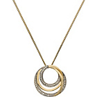 more details on 9ct Gold Plated Silver Diamond Circle Pendant.