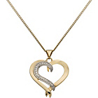 more details on 9ct Silver and Gold Plated Diamond Heart Pendant.