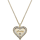 more details on 9ct Gold Plated Silver Crystal 'Mum' Heart Pendant.