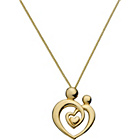 more details on 9ct Gold Plated Silver Mother and Child Heart Pendant.