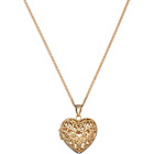 more details on 9ct Gold Plated Silver Filigree Heart Locket Pendant.