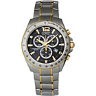 more details on Citizen Eco-Drive Men's Two-Tone Chronograph Watch.