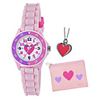 more details on Tikkers Girls' Pink Time Teacher Watch Set.
