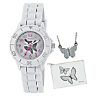 more details on Tikkers Girls' Glitter Butterfly Watch Set.