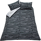 more details on Dashes Black and White Bedding Set - Double.