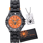 more details on Tikkers Boys' Black Spider Watch Set.