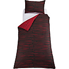 more details on Dashes Black and Red Bedding Set - Single.