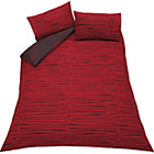 more details on Dashes Black and Red Bedding Set - Kingsize.