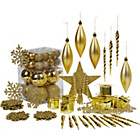 more details on Gold Christmas Tree Decorations - 75 Pack.