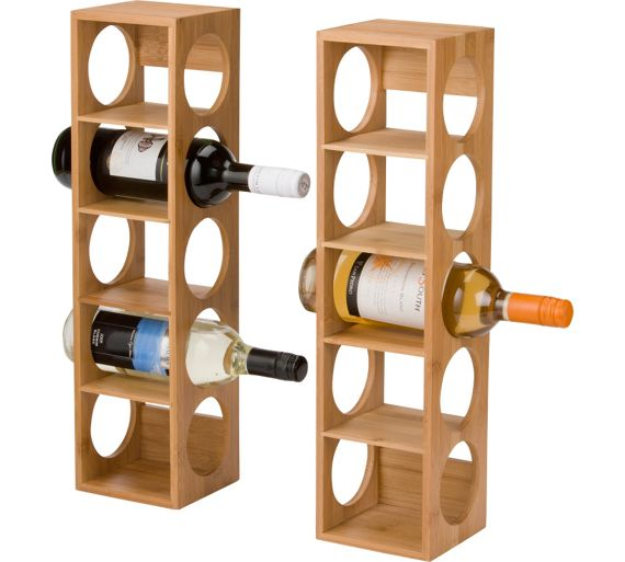 Buy Home 10 Bottle Bamboo Wine Rack At Your
