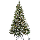 Pre Lit Snow Tipped Christmas Tree with 180 Lights - 6ft.