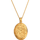 more details on Sterling Silver and 9ct Bonded Gold Embossed Locket Pendant.