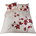 more details on Blossom Red and Cream Bedding Set - Double.