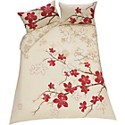 more details on Blossom Red and Cream Bedding Set - Kingsize.