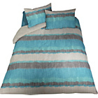 more details on Living IKAT Blue/Grey Duvet Cover Set - Double.