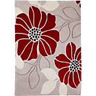 more details on Living Jessica Acrylic Rug - 120x170cm - Cream and Red.