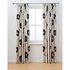 more details on Jessica Pencil Pleat Curtains 117x183cm - Cream and Black.