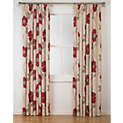 more details on Jessica Pencil Pleat Curtains 168x229cm - Cream and Red.