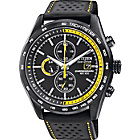 more details on Citizen Men's Black Eco Sports Chronograph Watch.