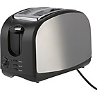 Cookworks Stainless Steel 2 Slice Toaster - Black