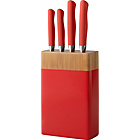 more details on ColourMatch 5 Piece Knife Block Set - Poppy Red.