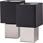 more details on Pair of Cube Touch Lamp - Black.