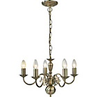 more details on Living Flanders 5 Light Chandelier - Brass.