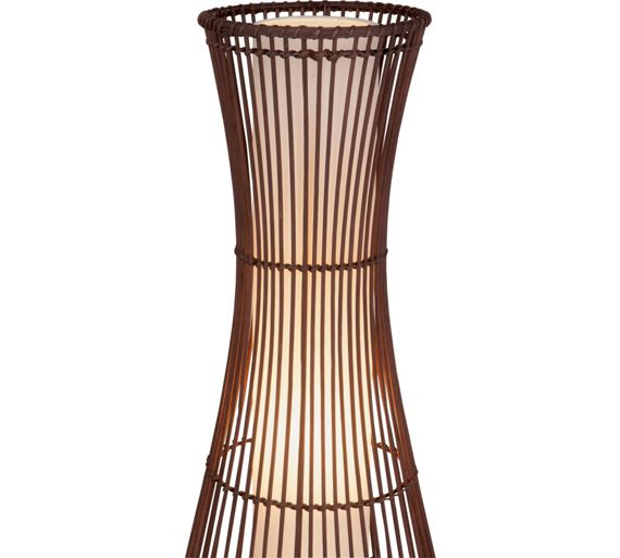 Buy collection sirit rattan floor lamp dark brown at for Argos wood floor lamp