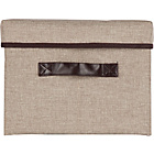 more details on Single Fabric Drawer Storage Box - Natural.