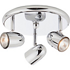 more details on Arizona 3 Spotlight Ceiling Plate - Chrome.