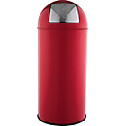 more details on 30L Red Round Push Top Bin.