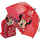 more details on Minnie Mouse Red Backpack and Dome Umbrella.