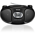 more details on Philips AZ105B/05 Boombox with CD Player - Black.