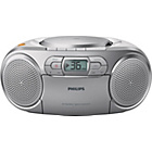 more details on Philips AZ127/05 Boombox with CD and Cassette Player -Silver